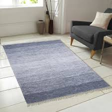 Blue Ombre Rug Chesapeake Ombre Fringe Cotton Hand Woven Blue Area Rug U0026 Reviews