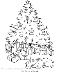 christmas tree coloring pages packages christmas