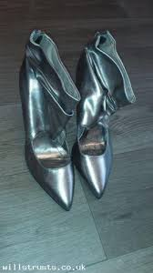 ankle boots uk look metallic look ankle boots uk size 4 ebay