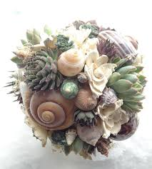 wedding bouquets with seashells bridal bouquet succulents and sea shells flower bouquets