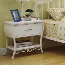dreamfurniture com bella youth nightstand in white metal