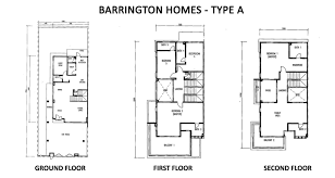 Barrington Floor Plan by Lbs Barrington Homes At Cameron Highlands