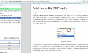 javascript imacros tutorial imacros save file dengan fungsi onload javascript full version update