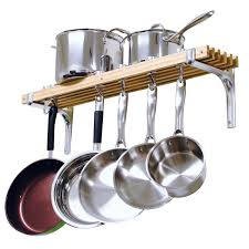 saucepan hooks kitchen pots and pans wall rack stainless steel