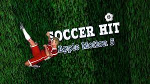 apple motion 5 template soccer hit youtube
