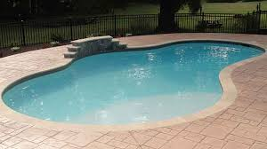 powhatan pool with stamped concrete decking poolworks