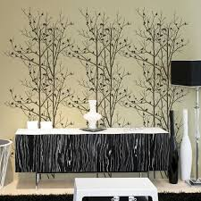 birds in trees allover stencil trendy reusable wall stencils