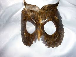 owl mask genuine handmade leather owl mask