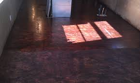 i layed wood filled sanded stained and varnished an osb floor