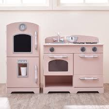 amazon com teamson kids retro wooden play kitchen with