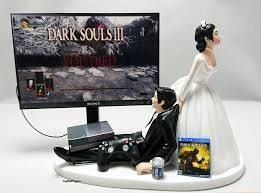 gamer cake topper wedding cake topper darksouls gamer and 39 similar items