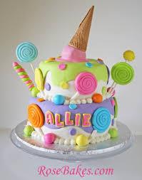 candyland birthday cake behance