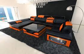 sofa mã bel wohnzimmerz big sofa with bigsofa marlencm schwarz mã