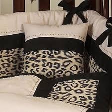Cheetah Print Crib Bedding Set Animal Safari Ivory And Black Leopard Print 9 Crib Bedding