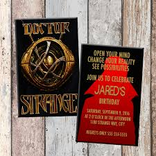 Personalized Birthday Invitation Cards Dr Strange Doctor Strange Superhero Personalized Birthday