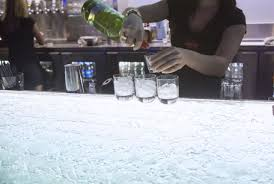 illuminated counter bar glass upright hfx sports bar u0026amp