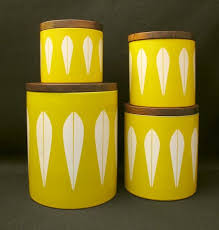 yellow kitchen canister set 1271 best canister sets images on vintage kitchen