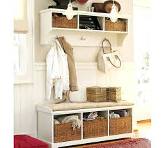 Bench With Shoe Cubby White Entryway Storage Cubby With Coat Rack Locker Furniture Bench