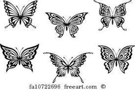 free butterfly silhouette prints and wall freeart