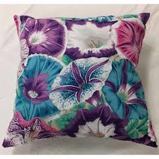 purple flower throw pillow infinitely simple