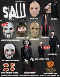 saw costumes and masks coming from trick or treat studios daily dead