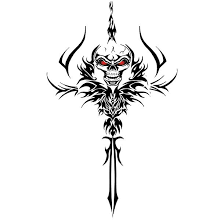 skull dagger design