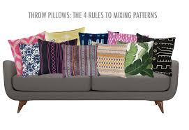 Decorative Pillows For Sofa by Throw Pillows The 4 Rules To Mixing Patterns Decorotation