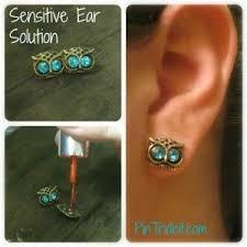 sensitive ears earrings solutions solution for sensitive ears ohmygosh i can wear earrings now never