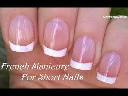 french manicure for short nails no tape needed nail design youtube