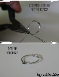 a knot ring wire knot ring diy how to make a wire bookmark jewelry on cut
