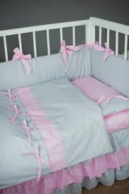 Baby Duvet Crib Bedding Baby Bed Sets Pink Stars Handmade Cotton