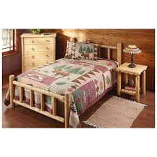 Log Cabin Furniture Amazon Com Castlecreek Cedar Log Bed Queen Kitchen U0026 Dining