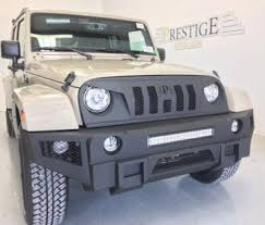 jeep front grill guard 07 17 jeep wrangler jk front bumper grille guard prestige off roads
