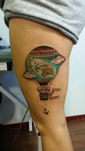 side of head tattoo best 25 air balloon tattoo ideas on pinterest world tattoo