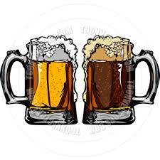beer cheers cartoon beer or root beer mugs vector images by chromaco toon vectors
