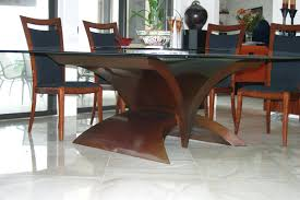 dining room table bases for granite glass top wood base ideas