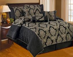 luxurious 7pcs quilted bed spread set comforter set kate black