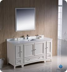 traditional bathroom vanity antique white finish two side