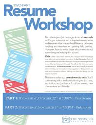 Resume And Interview Coaching The Webster Apartments U2013 Events