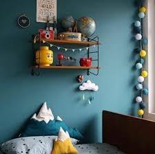 deco chambre bebe bleu peinture murale idee deco chambre bebe bleu canard etagere