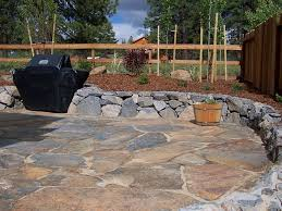 Patio Flagstone Designs Rock Patio Ideas Calladoc Us