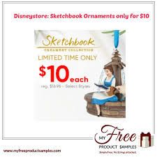 disneystore sketchbook ornaments only for 10
