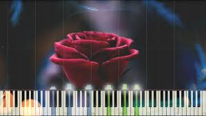 beauty and the beast teaser trailer music piano synthesia