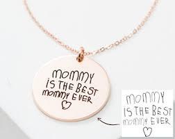 custom handwriting necklace handwriting necklace etsy