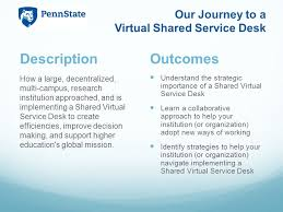 Penn State Its Help Desk Our Journey To A Virtual Shared Service Desk Christy Long