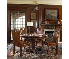 mahogany round poker table