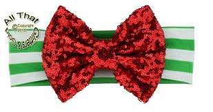 christmas headbands big bow christmas headbands baby sequin