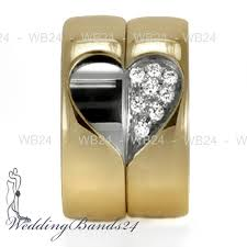 Heart Wedding Rings by Matching Wedding Rings 950 Platinum And 18k Yellow Gold Heart