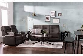jaden fabric power rocker reclining loveseat w console living spaces
