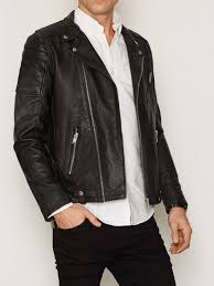 biker jacket men shnneel biker jacket selected homme black jackets clothing